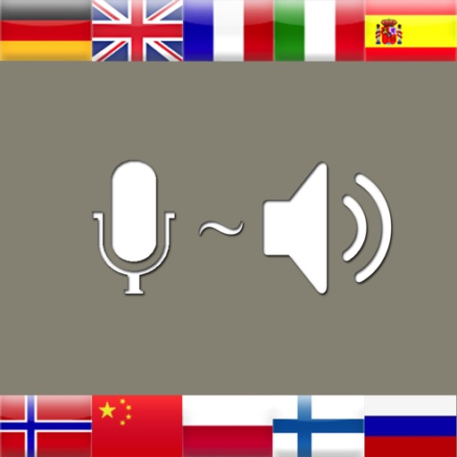 Vocal Translate - does recognize speech as you talk and reads live translations from a sophisticated dictionary for 30 languages like Spanish English Chinese German French Danish Japanese Danish Polish Catalan Portuguese Czech Dutch Romanian Greek