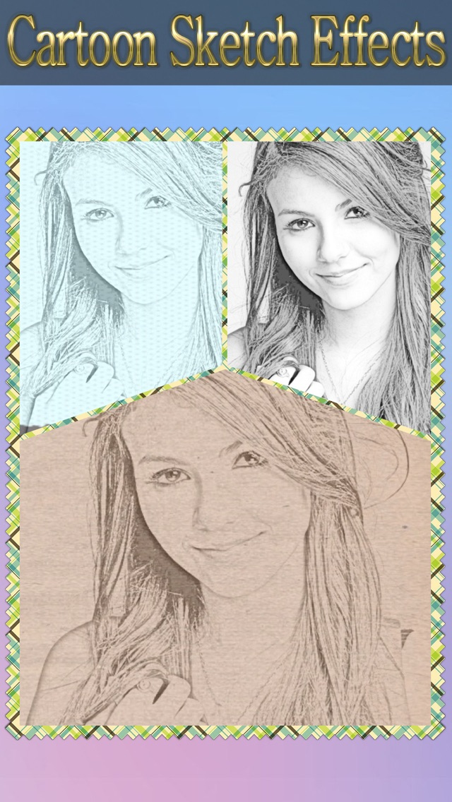 Cartoon Sketch Avatar Free - Pink Pencil & Coloring Toon Camera Photo Effects Screenshot