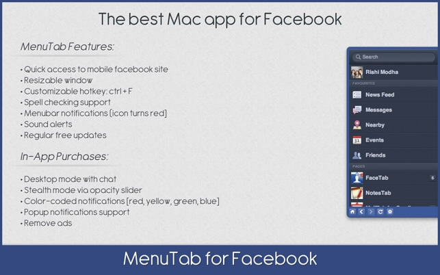 facebook app für macbook download