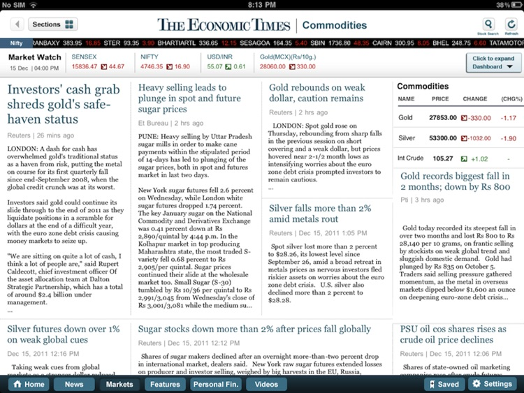 The Economic Times for iPad screenshot-2