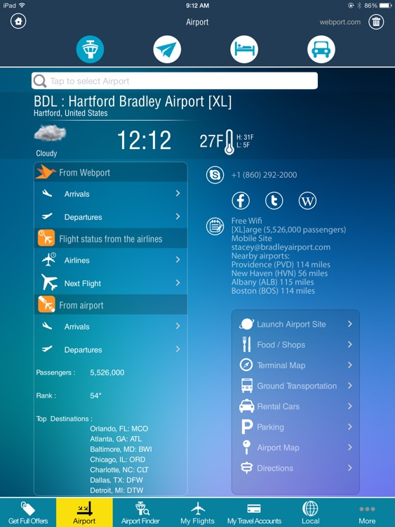 Hartford Bradley Airport + Flight Tracker HD BDL screenshot-1