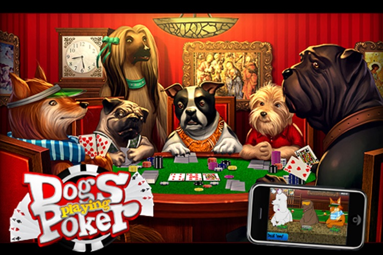 Dogs Playing Poker ~ free Texas hold'em game for all skill levels & dog lovers!