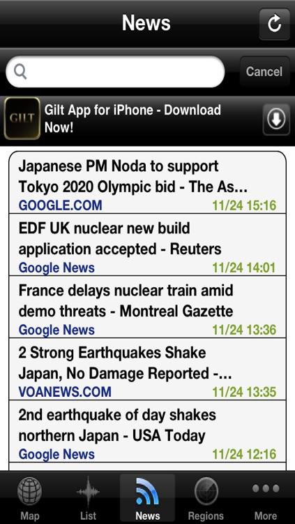 Earthquake Alerts and News Information screenshot-3