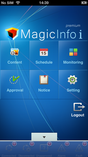 MagicInfo on the App Store
