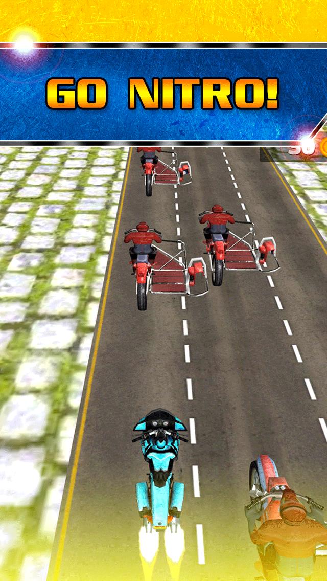 アサルト乗馬ストリートレースゲーム無料ではバトルレーサーの実行3Dダートバイクのおすすめ画像3