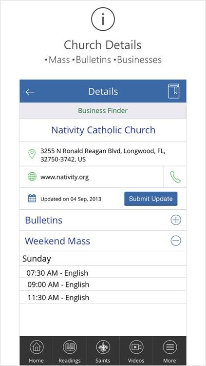 Catholic Mass Times Church Directory