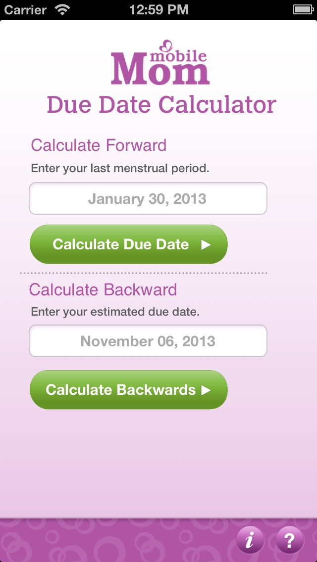 Pregnancy calendar and pregnancy calculator | womens health clinic.