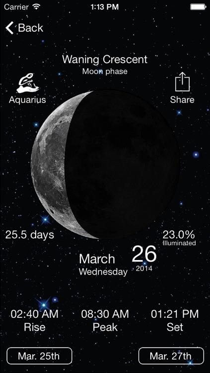 Solar Moon - Phase Calendar & Sun Info Tracker screenshot-4