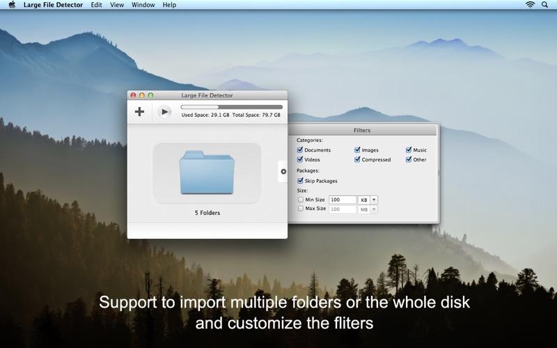 Large File Detector Screenshot