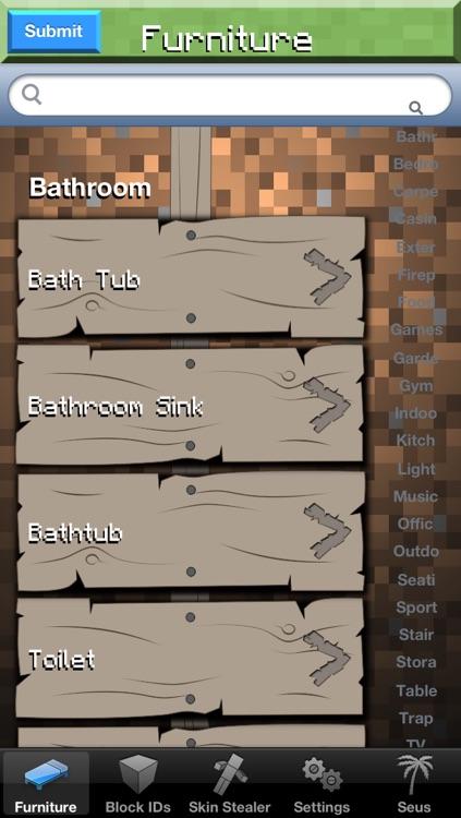 Furniture Setups Pro and Skin Stealer for Minecraft Game Textures Skins