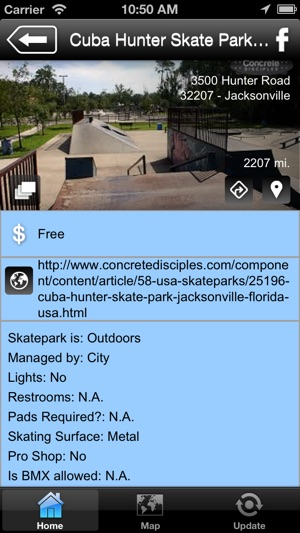 Florida Skateparks Map.Florida Skatepark Guide On The App Store