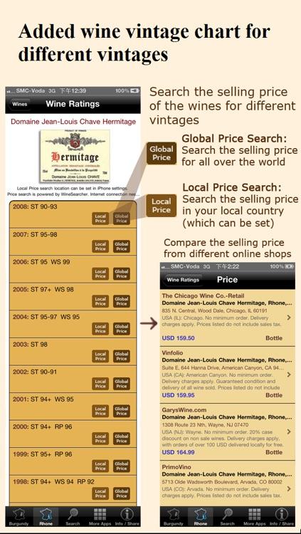 Wine Experts Rating (Burgundy & Rhone Wines) screenshot-3