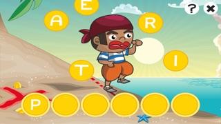農行海盜!兒童遊戲: 學習 寫文字,並與海盜,船長,鸚鵡,百寶箱,鱷魚和船舶在海洋中的字母。免費,新,學習,幼兒園,學前班和學校!屏幕截圖3