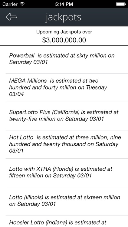 LottoNumbers, Winning USA Lottery Result Numbers - Powerball, MegaMillions, Lotto and more screenshot-4