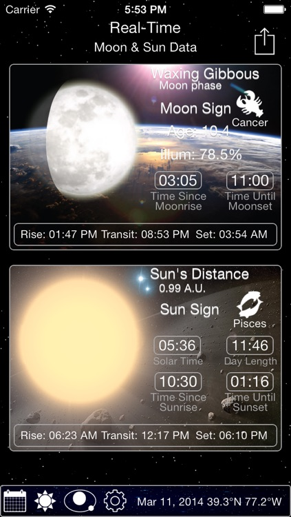 Solar Moon - Phase Calendar & Sun Info Tracker screenshot-1