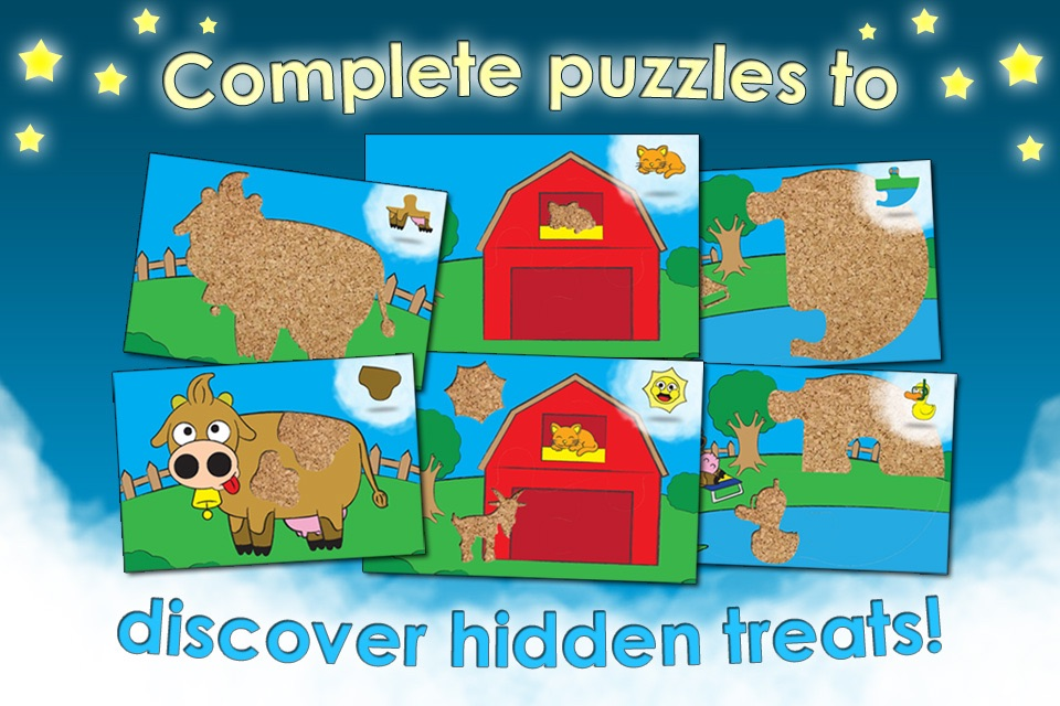 Farm Animal Games and Barnyard Puzzles for Kids HD - Best Preschool Activity and Jigsaw Fun for Toddlers and Families screenshot-2