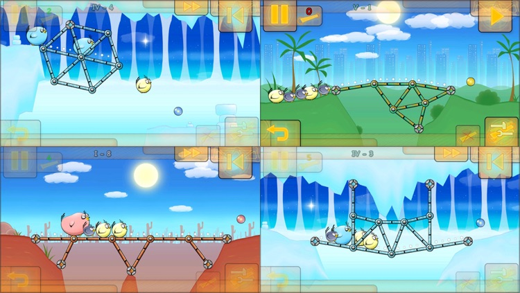 Fat Birds Build a Bridge! HD screenshot-3