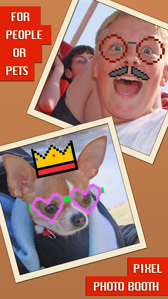 Pixel Photo Booth - Funny Picture Editing Screenshot on iOS