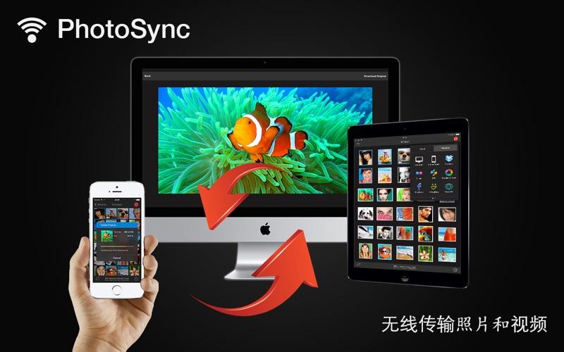 照片同步 PhotoSync - wirelessly transfers your photos an...  for Mac