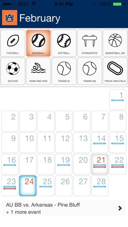 Auburn Calendar