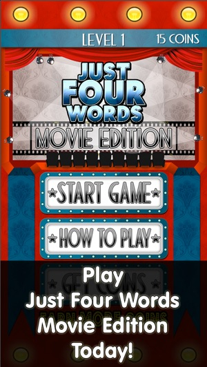 just four words movie edition word game to keep you guessing on