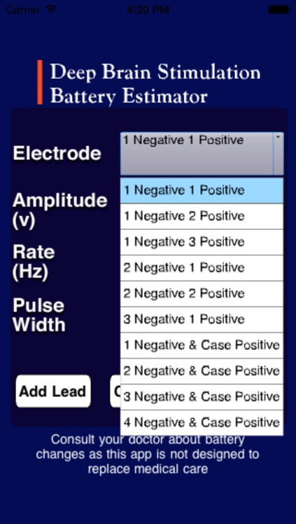 Deep Brain Stimulation Battery Estimator (DBS BE) screenshot-2