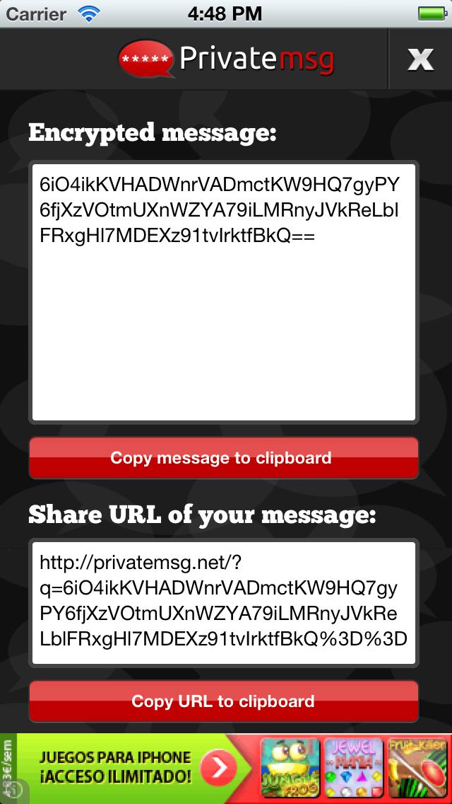 PrivateMSG - Encrypt & decrypt Textsのスクリーンショット2