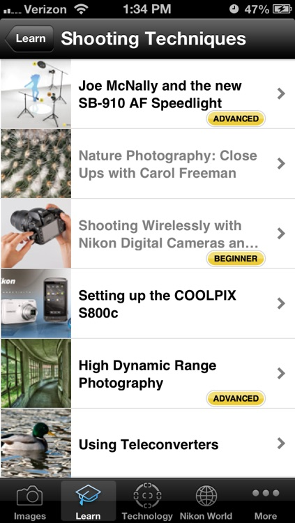 Nikon Learn & Explore - photo tips, techniques and terms screenshot-1