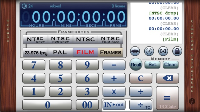 TCCalc - Timecode calculator on the App Store