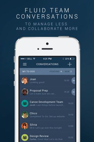 Canoe Messenger - Mobile Messaging for Work screenshot 1