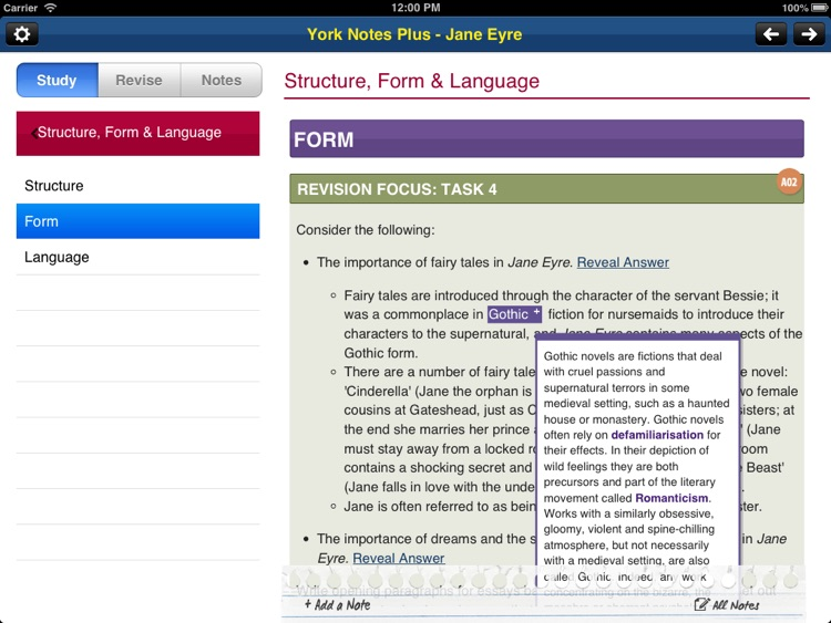 Jane Eyre York Notes AS and A2 for iPad