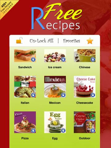 400+ Free Cooking Recipes (Cookbook) screenshot