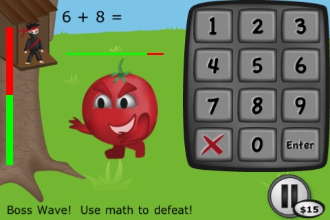 Math Ninja HD Free! screenshot-0