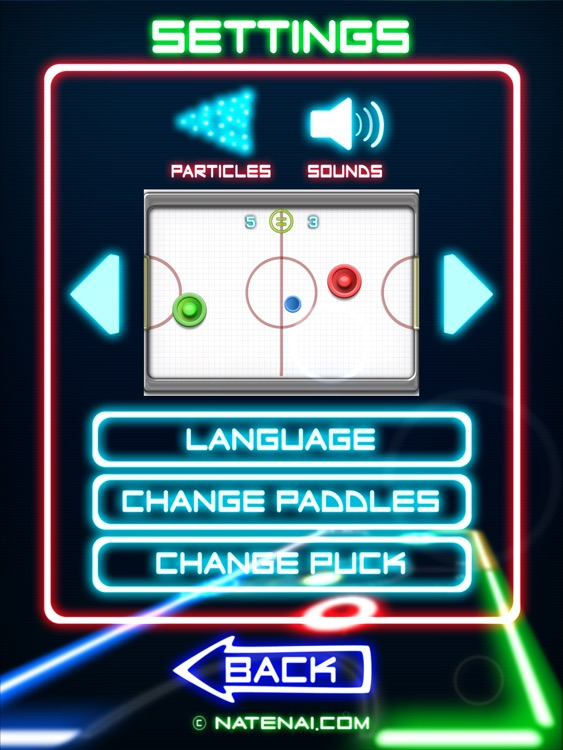 Glow Hockey 2 HD screenshot-4