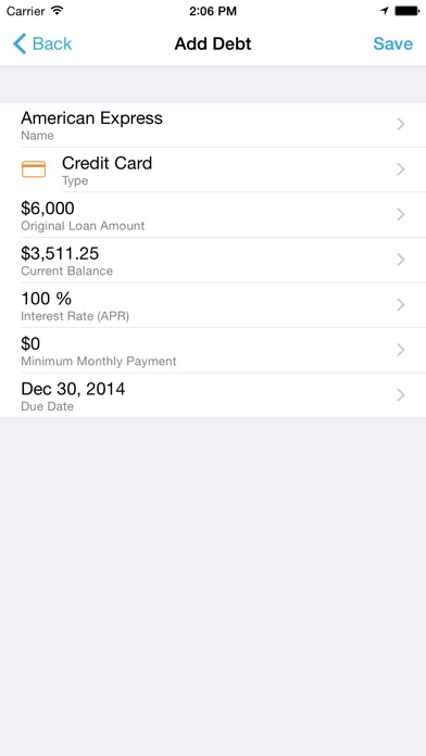 Screenshot for Debt Strategy in United States App Store