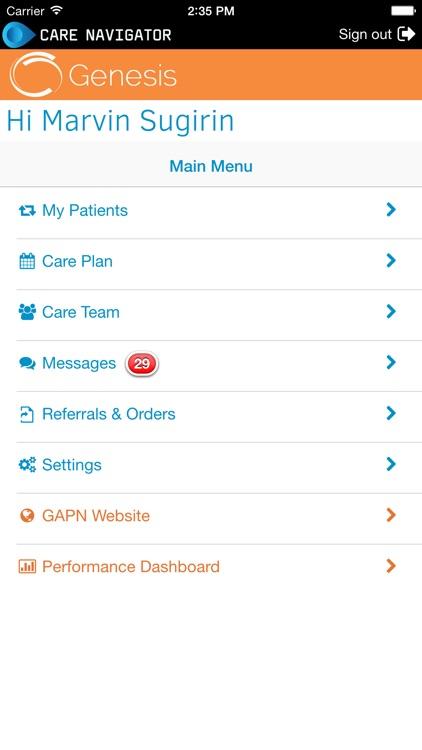 Genesis care navigator by blueprint healthcare it genesis care navigator malvernweather Gallery