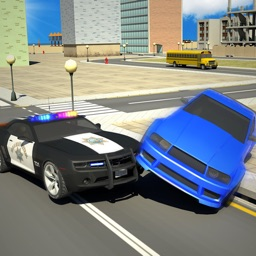 Cop Car Vs City Crime Car Demolition Challenges