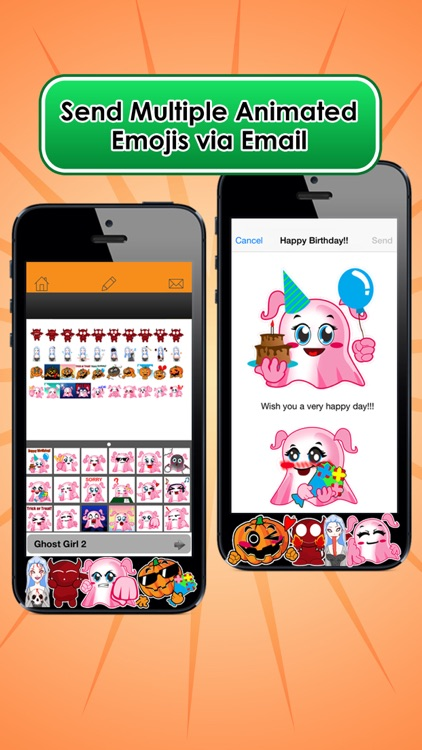 Emoji Kingdom 15 Free Pumpkin Halloween Emoticon Animated for iOS 8 screenshot-3