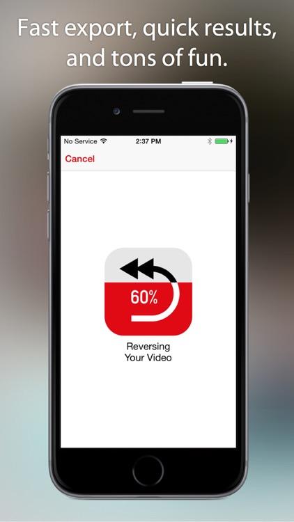 Reverser - Backwards Video Maker with Reverse Cam screenshot-3
