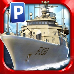 Navy Boat Parking Simulator Game - Real Army Sailing Driving Test Run Park Sim Games