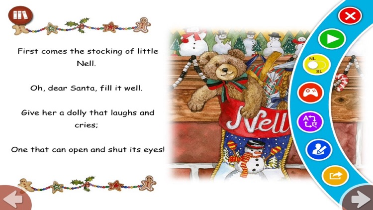 Up On The Housetop - Read along interactive Christmas eBook, songbook for kids, parents and teacher screenshot-3