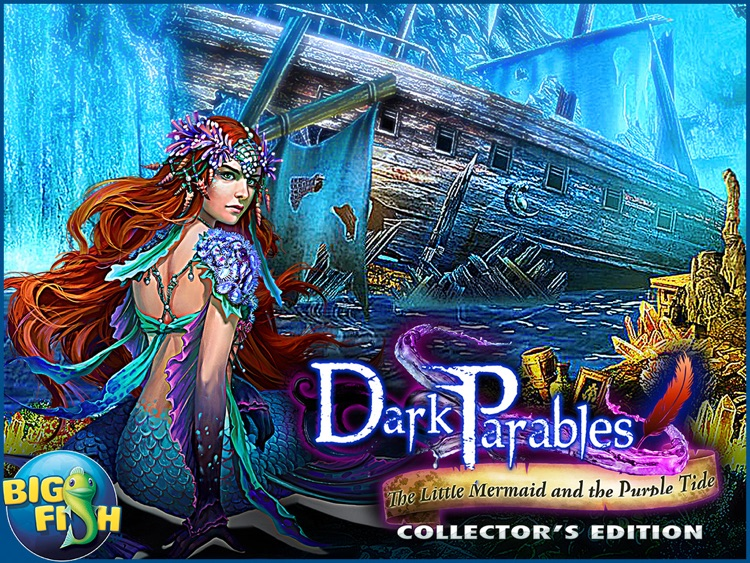 Dark Parables: The Little Mermaid and the Purple Tide HD - A Magical Hidden Objects Game (Full) screenshot-4