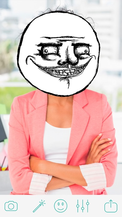 Troll Face Camera - Funny Pics Photo Editor for ProCamera SimplyHDR screenshot three