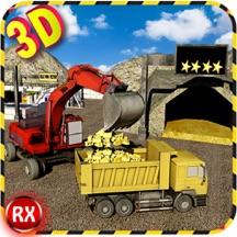 淘金模拟器 - 卡车和挖掘机