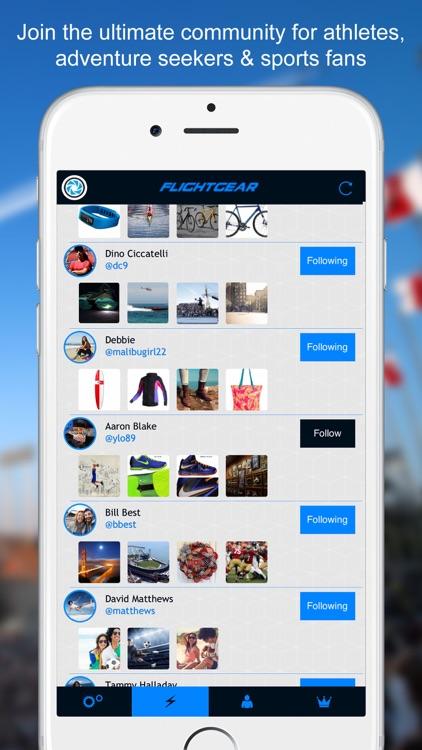 FlightGear - Social Network for Sports, Gear, Fitness, and Action screenshot-4