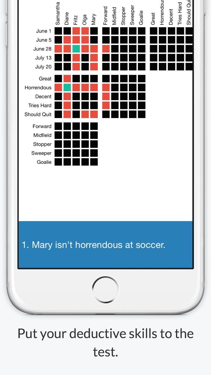 Logic Grid Puzzles - Word Games For Brain Training Screenshot