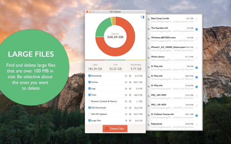 HD Cleaner - Free up Disk Space on your Hard Drive