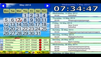 messages.download Desktop Weather, Planner and Clock software