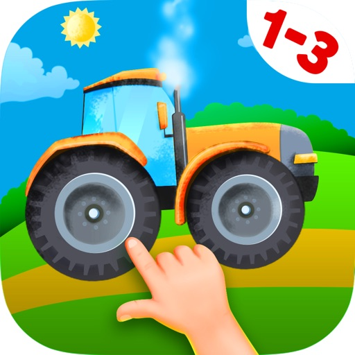 Tractor Jigsaw Puzzles Games free for Toddlers iOS App
