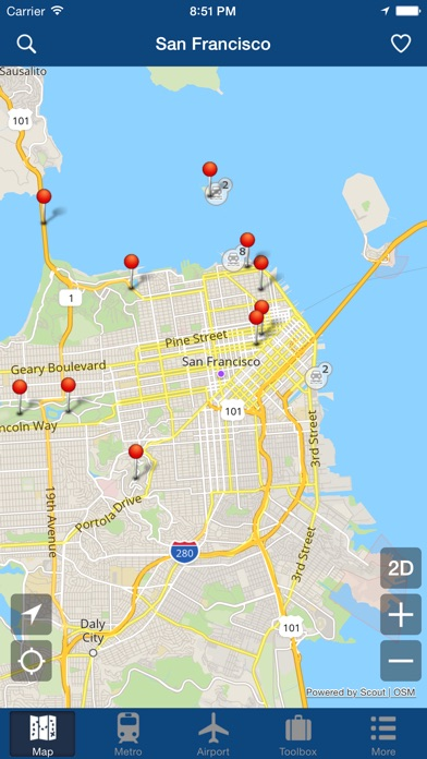 San Francisco Offline Map City Metro Airport App Price Drops